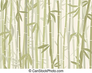 Bamboo forest background in green tones