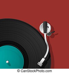 DJ record player icon - DJ record player vinyl icon