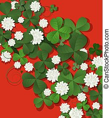 Saint Patricks Day wallpaper in red and green tones
