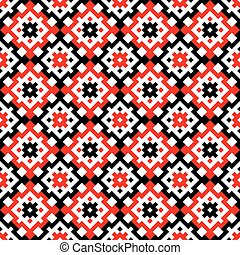 Traditional romanian embroidery 21 - Seamless pattern design...