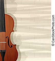 Violin text card