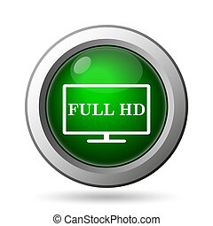 Full HD icon. Internet button on white background