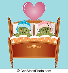 loving couple of cactus dreaming about love - the loving...
