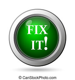 Fix it icon. Internet button on white background