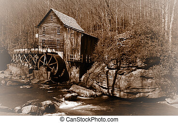 Glade creek Grist mil - Historic Glade creek Grist mill in...