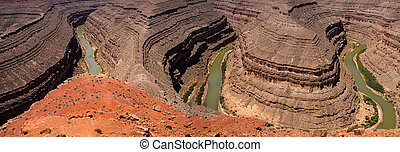 Goosenecks state park - Goosenecks of the San Juan river...