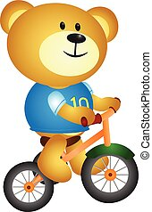 Bear with three cycle - full colour