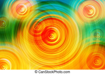 Abstract Colorful Radial Blur Background, Concentric Circles...