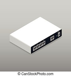 Router, the back side, isometric icon