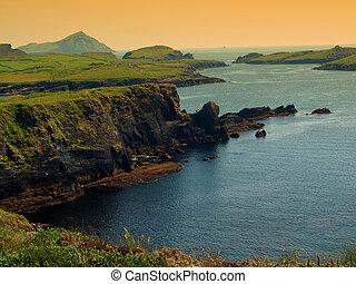 beautiful scenic irish landscape - photo of a beautiful...
