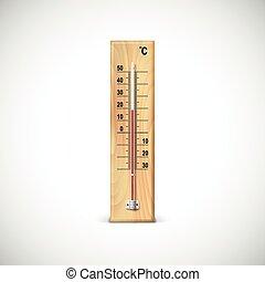 clip art vektor von drau en thermometer hei und kalte temperatur hoch csp5774026. Black Bedroom Furniture Sets. Home Design Ideas
