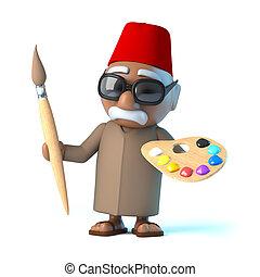 3D, marocain, est, une, artiste,
