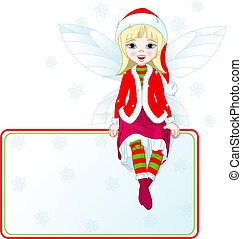Little Christmas fairy place card - Little Christmas fairy...