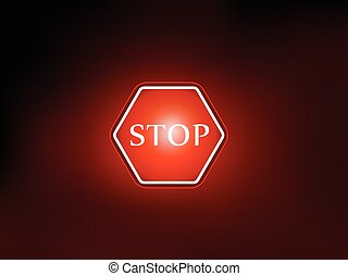 stop sign symbol background vector deisgn