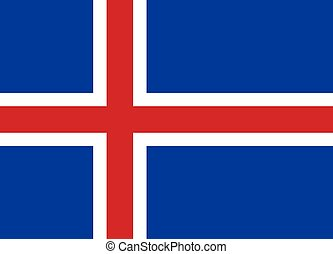 The national flag of Iceland