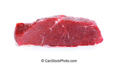 Meat isolated on the white background