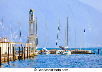 Coast of Riva del Garda - Fragment of port of Riva del Garda