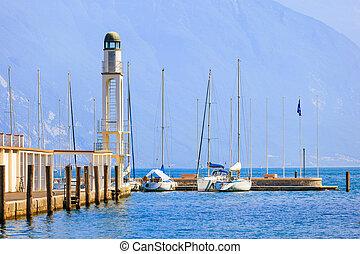 Coast of Riva del Garda - Fragment of port of Riva del Garda