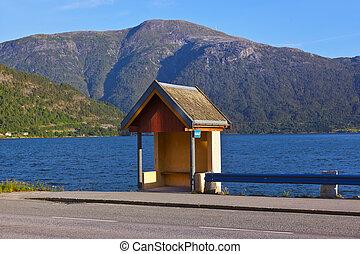 Bus stop in Sogndal - Norway