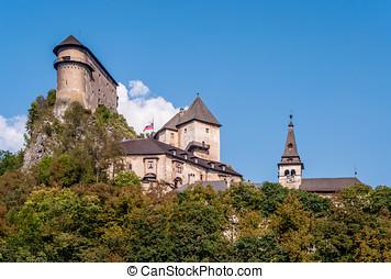 Oravsky Castle in Slovakia - Medieval castle Oravsky Hrad in...