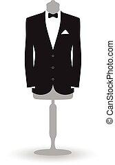 suit on a mannequin
