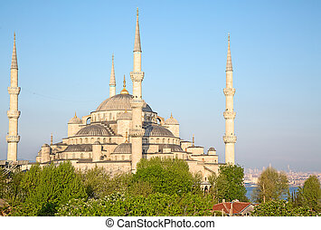 Istanbul, Turkey - Famous Blue mosque in Istanbul, Turkey