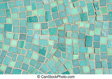 Green and Blue Mosaic Background