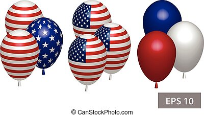 4 july Independence day balloon