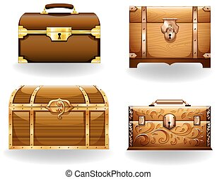 T reasure Chest - Set of four different styles of treasure...