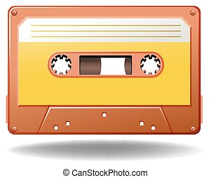 Cassette - Single tape cassette in orange color