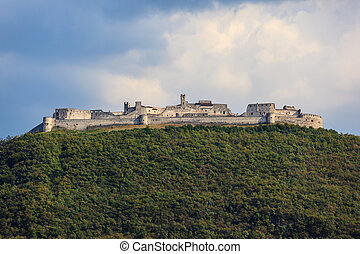 Besenello castle in Trentino - Besenello castle on a hill in...