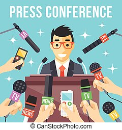 Press conference. Live report. - Press conference. Live...