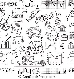 finance forex hand drawing pattern, excellent vector...