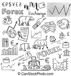 finance forex hand drawing, excellent vector illustration,...