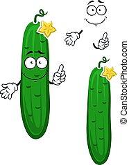 Cartoon crunchy cucumber vegetable character - Crunchy green...