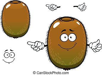 Fuzzy kiwi fruit cartoon character