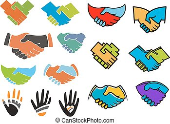 Colorful partnership and friendship symbols - Business...