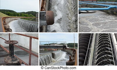 waste water cleaning - Waterworks. Sewage waste water...