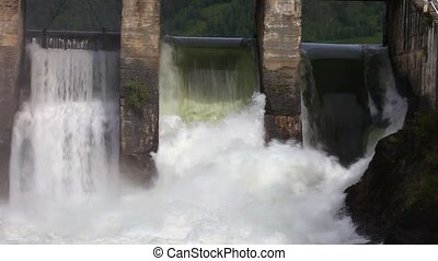 Hydroelectric power station - Dam of hydroelectric power...