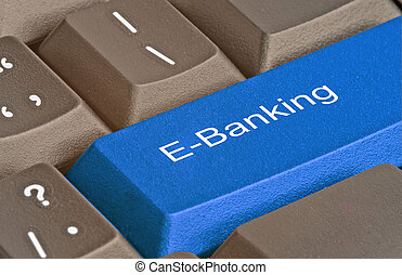 Keyboard with key for e-banking