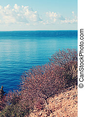 Landscape of Calabria - Colorfully toned mediterranean sea...