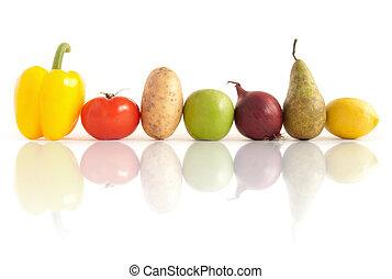 grönsaken, organisk, frukter