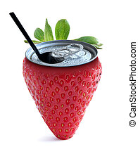 Strawberry juice concept