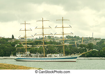 """Sailing vessel """"world"""" in Sevastopol"""