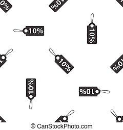 Discount pattern - Image of string tag with text 10 percent,...