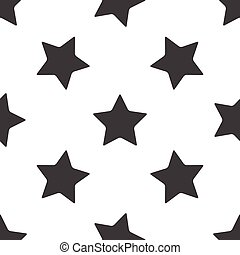 Star pattern - Image of star, repeated on white background