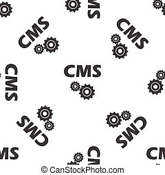 CMS settings pattern - Text CMS with gears, repeated on...