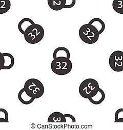 Dumbbell pattern - Image of dumbbell with text 32, repeated...