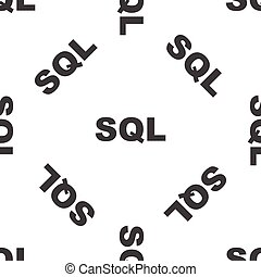 SQL pattern - Black text SQL, repeated on white background