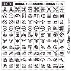 aircraft icon - Toy aircraft and accessories icons sets.